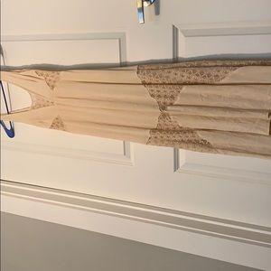 Nude maxi dress